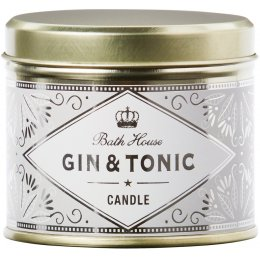 The Bath House Scented Soy Candle - Gin & Tonic