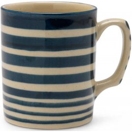 Hand Painted Striped Mug