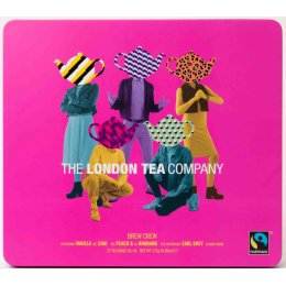 London Tea Company Fairtrade Tea Brew Crew Tea Collection Gift Tin - 72 bags