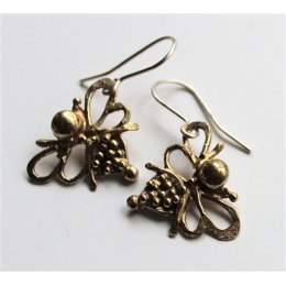 LA Jewellery Recycled Brass Nurture Bee Earrings