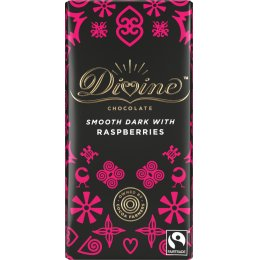 Divine 70 percent  Dark Chocolate with Raspberries - 90g