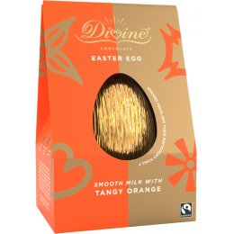 Divine Tangy Orange Milk Chocolate Easter Egg - 100g