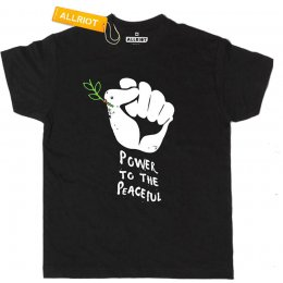 All Riot Power to the Peaceful Organic T-Shirt
