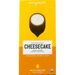Loving Earth Lemon Cheesecake Caramel Chocolate - 80g