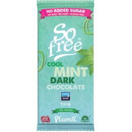 Plamil So Free No Added Sugar Cool Mint Dark Chocolate Bar - 80g