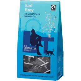 London Tea Company Fairtrade Earl Grey Pyramid Tea - 15 bags