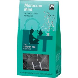 London Tea Company Fairtrade Moroccan Mint Pyramid Tea - 15 bags
