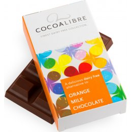 Cocoa Libre Rice Milk Orange Chocolate Bar - 50g