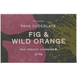 Pana Chocolate Raw Organic Fig & Wild Orange Chocolate Bar - 45g