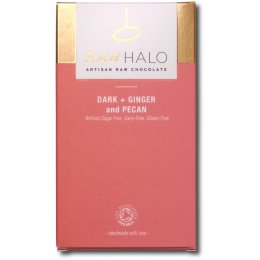 Raw Halo Dark & Ginger With Pecans Bar - 35g