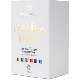 Raw Halo Organic Chocolate Bar Christmas Wishes Gift Box - 6x35g