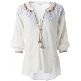 Nomads Embroidered Tunic Shirt - Ivory
