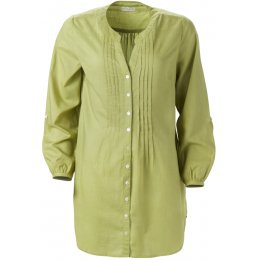 Nomads Plain Cotton Long Shirt - Apple