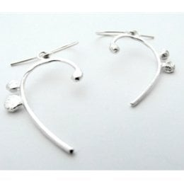 LA Jewellery Clef Recycled Silver Earrings