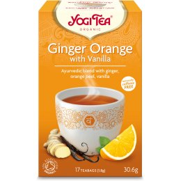 Yogi Organic Ginger Orange & Vanilla Tea - 17 Bags