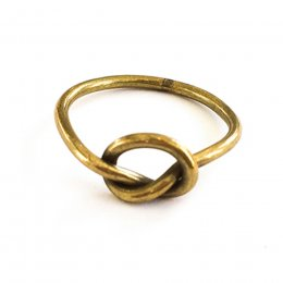 Studio Jux Recycled Brass Knot Ring