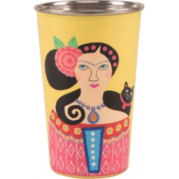 Hand Painted Tumbler - Yellow