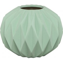 Diamond Pleated Earthenware Vase
