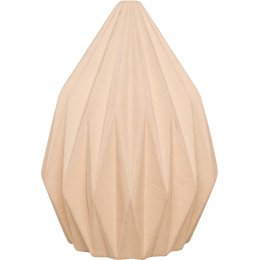 Swan White Diamond Pleated Earthenware Vase