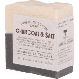 Handmade Charcoal & Salt Exfoliating Cake Soap 250g