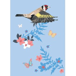 RSPB Flying Goldfinch Charity Card