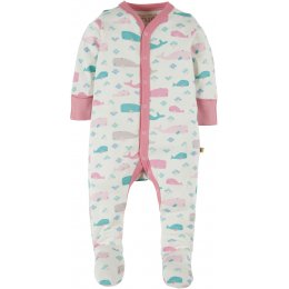 Frugi Darling Babygrow - Little Whale