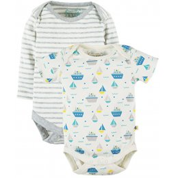 Frugi Teeny Summer Seas Body - Pack of 2