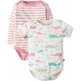 Frugi Teeny Little Whale Body - Pack of 2