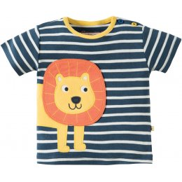 Frugi Felix Wrap Around Top - Navy Breton Lion