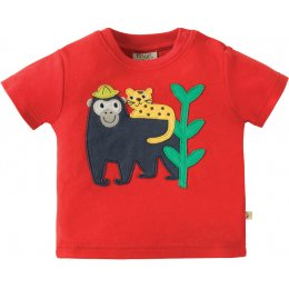Frugi Little Creature Monkey Applique Top