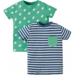 Frugi Tresco Cactus T-shirts - Pack of 2