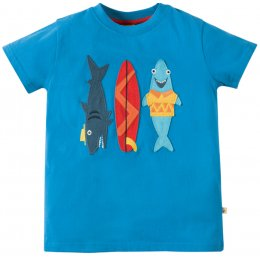 Frugi Stanley Shark Applique T-shirt