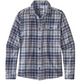 Patagonia Mens Lightweight Fjord Flannel Shirt - Classic Navy Check