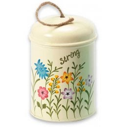 Meadow Flower Garden Twine Tin - Cream