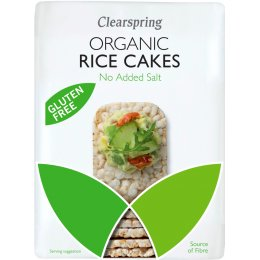 Clearspring Slim Rice Cakes - Plain - 130g