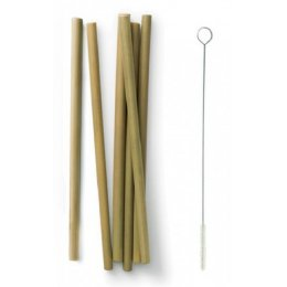 Bambu Natural Bamboo Straws - Set of 6