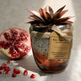 Pomegranate Bronze Lotus Candle
