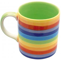 Handpainted Rainbow Mug