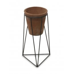Jara Terracotta Planter with Stand - Small