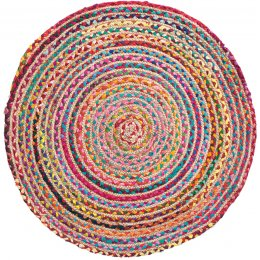 Multi Coloured Braided Rug - Large