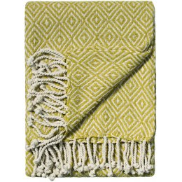Zig-Zag Recycled Cotton Throw - Old Gold