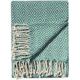 Zig-Zag Recycled Cotton Throw - Blue