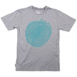 Silverstick Mens Love Trees T-Shirt - Ash Marl & Blue