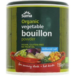 Suma Organic Reduced Salt Vegetable Bouillon Powder - 150g
