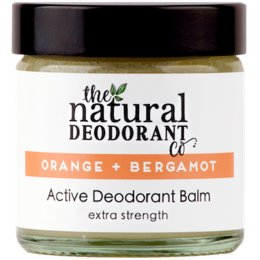 Natural Deodorant Co Active Deodorant Balm - Orange & Bergamot - 60ml