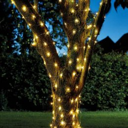 Solar Powered Warm White Firefly String Lights - 100 LEDS