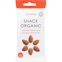 Clearspring Tamari Roasted Sicillian Almonds - 30g