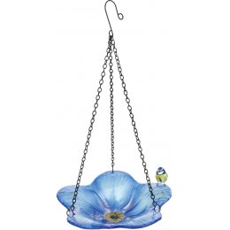 Forget Me Not Hanging Bird Bath