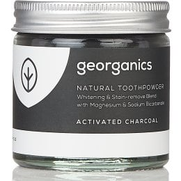 Georganics Natural Toothpowder - Activated Charcoal - 60ml