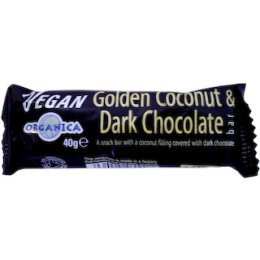 Organica Golden Coconut Dark Choc Bar - 40g